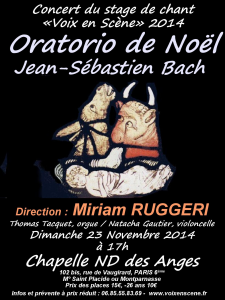 Flyer affiche Oratorio de Noël ND des Anges